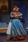 Makeda (left), played by Harriett D. Foy, supplies some of the play's most emotionally gripping monologues.