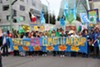 Many Bay Area union members participated in the February 7 climate march in Oakland.