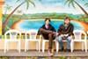 Michael Waldrep and Bennett Rankin eat at El Ojo de Agua in Fruitvale.