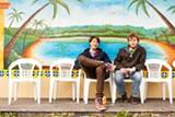 STEPHEN LOEWINSOHN - Michael Waldrep and Bennett Rankin eat at El Ojo de Agua in Fruitvale.
