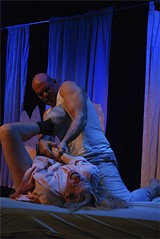"MIKE THOMPSON - Michaela Greeley and Paul Santiago in ""A Bed of My Own."""