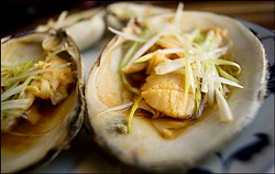 Steamed surf clams at Great China. - CHRIS DUFFEY