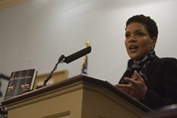 """Michelle Alexander called racial disparities apparent in stop data made public by OPD in 2001 """"unacceptable."""""""