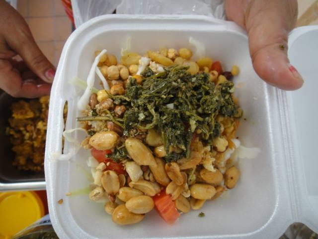 Grocery Cafe's tea leaf salad (via Facebook).