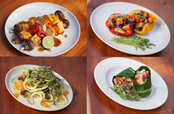 Some of the 100-percent produce-based offerings at Core Kitchen.