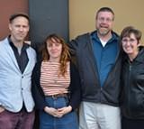 COURTESY OF SEIU LOCAL 1021 - Mills adjuncts David Buuck, Kate Robinson, Ben Brown, and Julie Nicholson.