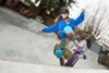 Minna Stess recently became the youngest person to ever drop in on the Woodward West 27-foot MegaRamp.