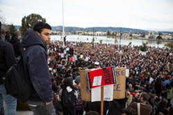 The Millions March drew about 3,000 protesters to downtown Oakland on Saturday. - BERT JOHNSON