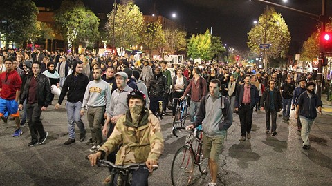 Monday night's protest was huge. - JOAQUIN PALOMINO.
