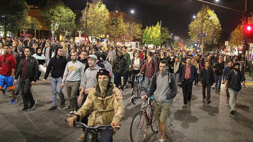 Monday night's protest was huge. - JOAQUIN PALOMINO.