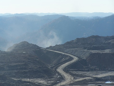 Mountaintop-removal mining.