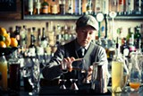 STEPHEN LOEWINSOHN - Nat Harry makes simple syrup using char-free organic sugar.