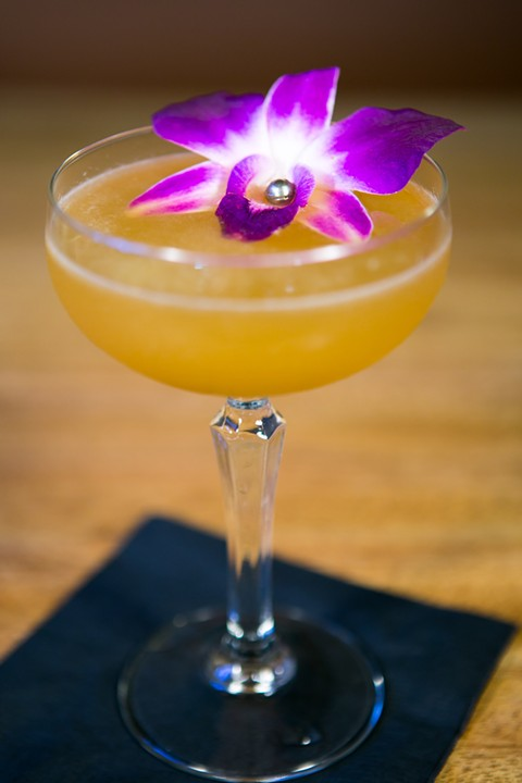 The Black Orchid tiki drink from Longitude - BERT JOHNSON