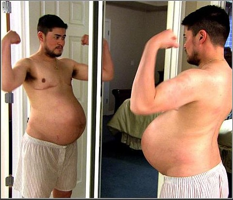 Still from the documentary on Thomas Beatie, Pregnant Man.