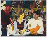 "Nicole Eisenman's ""Beer Garden with Ulrike and Celeste."""