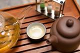 CHRIS DUFFEY - Numi Tea Garden honors the rules of the tea ceremony.