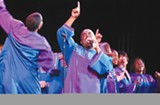 Oakland Interfaith Gospel Choir sings at a performance supported by Oakland's art grants.