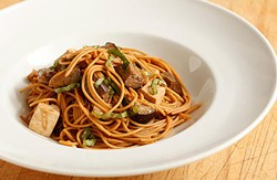 A noodle dish made with California ingredients. - CALIFORNIA THURSDAYS