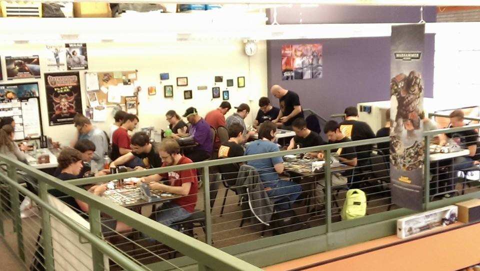 Where the gamers go to game: upstairs at Endgame's retail shop (via Facebook).