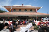 MOMO CHANG - One thousand people showed up to the opening of the King Pan Buddha Light Palace.