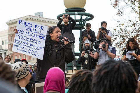 Organizers of the Millions March in Oakland made sure white protesters didn't take over the event. - BERT JOHNSON