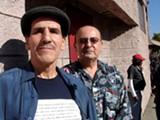 JULIA LANDAU - Orlando Chavez and Larry Galindo outside a recent meeting at OASIS.