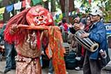 Performers at the Himalayan Fair.