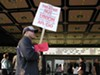Picketers at the Alameda Theatre have been driving some patrons home.
