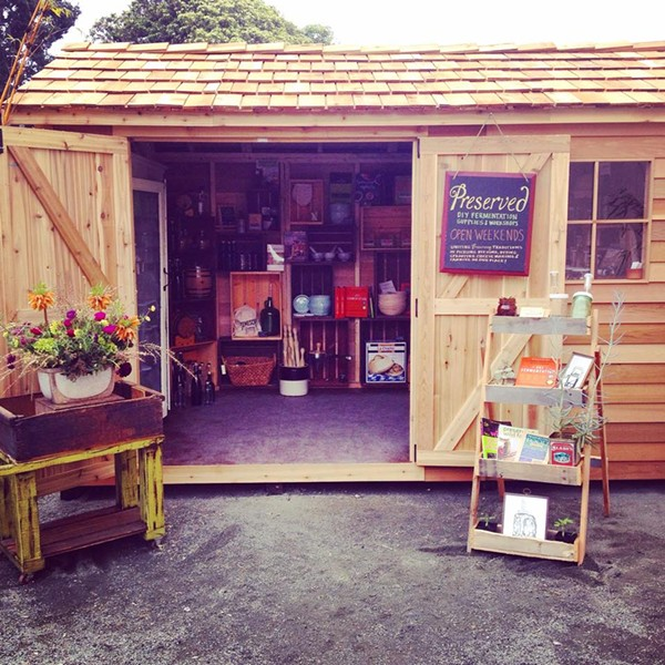 Preserved is a pop-up shop located in a backyard garden shed (via Facebook).