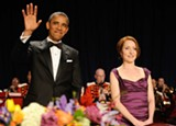 President Obama at the 2012 White House Correspondents' Dinner with Caren Bohan of Reuters.