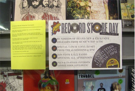 Record Store Day promotional material and disclaimer