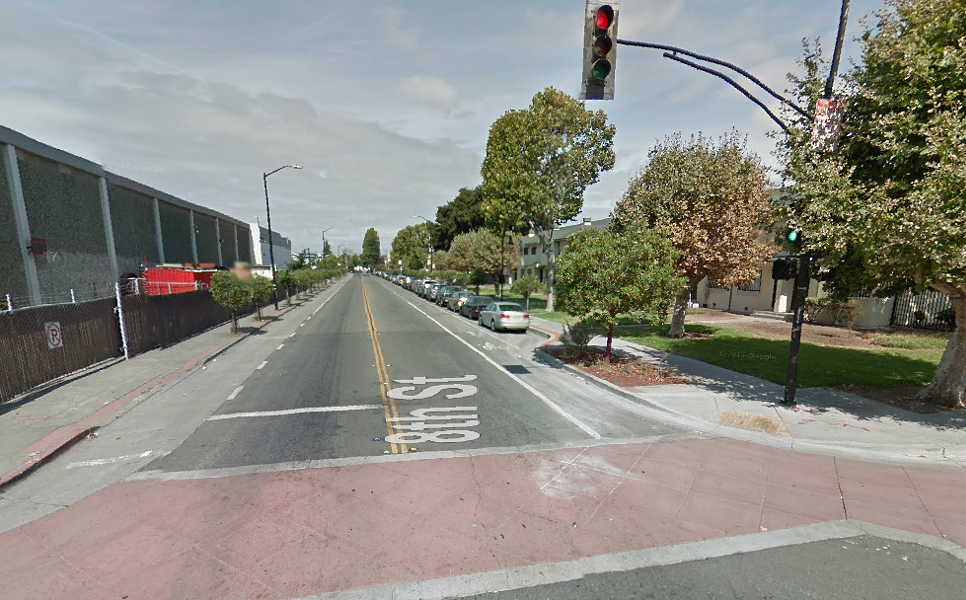 8th and Union streets in West Oakland where the crash happened last Tuesday. - VIA GOOGLE MAPS