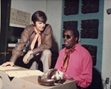 Rick Hall and Clarence Carter in Muscle Shoals.