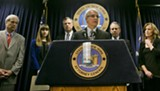 San Francisco DA George Gascón (center) has led a national campaign to raise awareness of the need for kill switches in smartphones.
