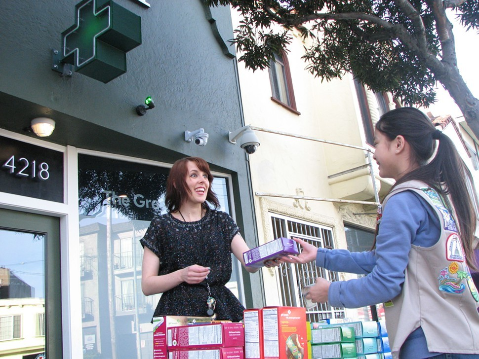San Francisco Girl Scout Danielle Lei sells out of cookies in 45 minutes in front of The Green Cross Monday