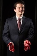 CHESHIRE ISAACS - Sean Mirkovich plays the murderous king.