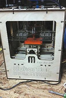 Sean O'Steen's MakerBot Cupcake CNC.