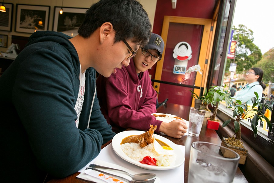 Seung Jung Jin and Tony Lee get ready for glorious comfort food at Muracci's Berkeley location. - BERT JOHNSON