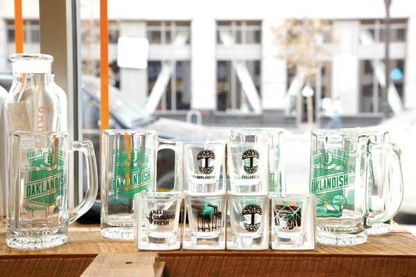 Oaklandish shot glasses. - BRAD WENNER - FILE PHOTO