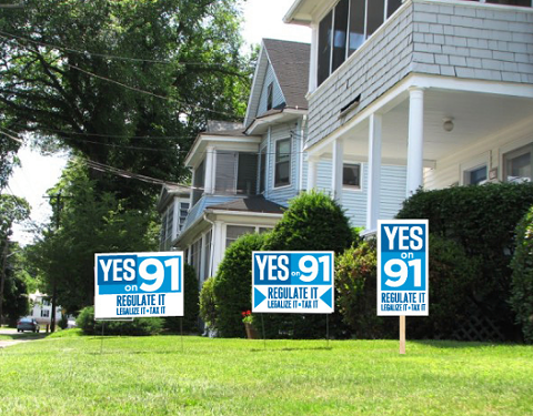 Signs of the Times: Election season in Oregon - YES ON 91 ON FACEBOOK