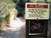 Signs such as this one are a common sight in the East Bay Parks system.