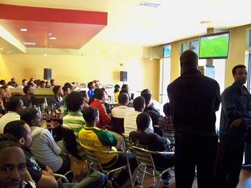 Soccer fans at MLK Cafe (via Facebook)