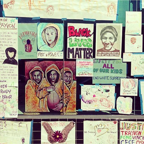 SoleSpaces exhibit To Trayvon, from Oakland — with Love & Rage.
