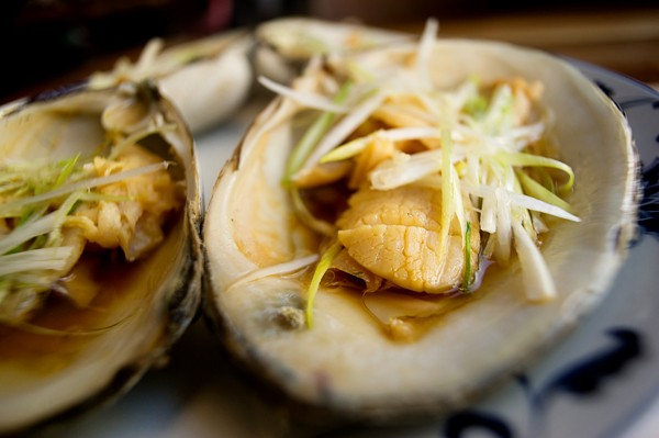 Steamed surf clams at Great China. - CHRIS DUFFEY / FILE PHOTO