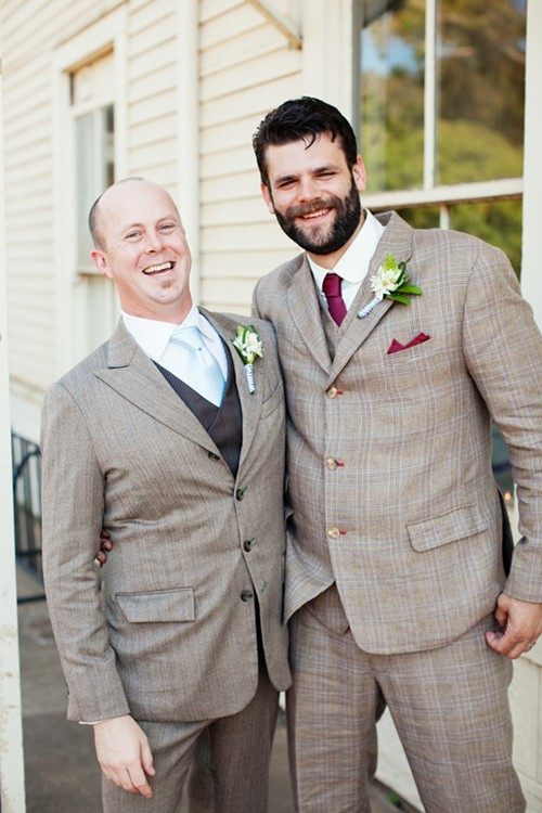 Streit (left) was the best man at Earles wedding, in addition to being his business partner.
