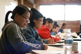 MOMO CHANG - Students learn English at Lao Family Community Development Inc. in Oakland.