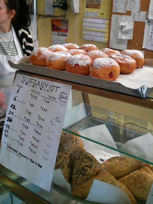 Sufganiyot at Grand Bakery.