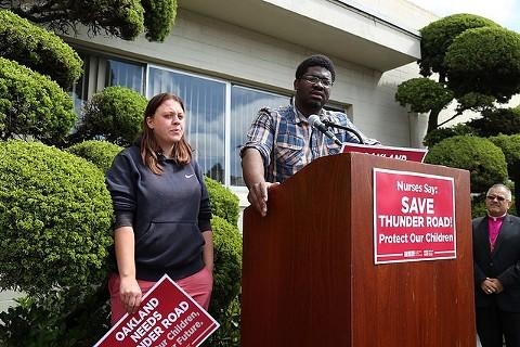 Protest today at Thunder Road. - COURTESY OF CALIFORNIA NURSES ASSOCIATION