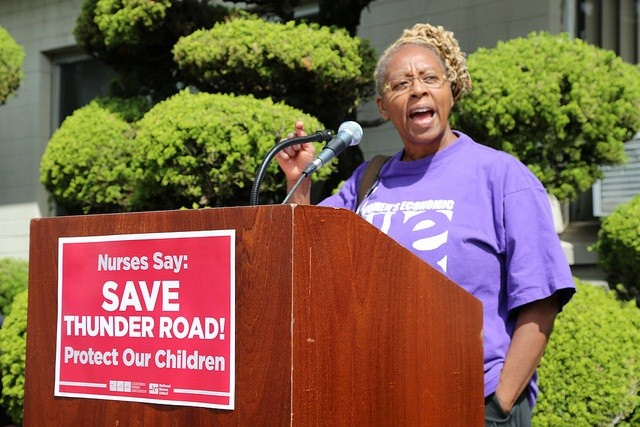 Sutter Health protest in Oakland last week. - CALIFORNIA NURSES ASSOCIATION