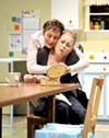 Sydney (Julia Brothers) and Angie (Rebecca Schweitzer) in <i>The First Grade.</i>